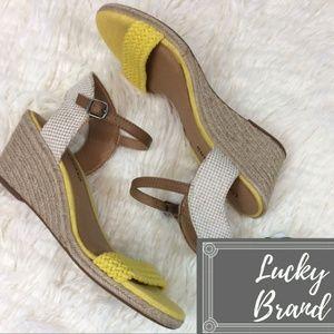 NWOB Lucky Brand Katereena Woven Wedge Shoe Sz. 9